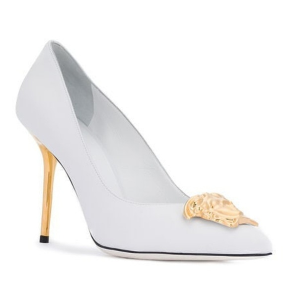 Versace Shoes | White Versace Palazzo